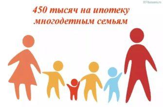450 многодетным семьям